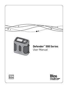 Defender 500 Series User Manual