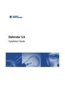 Defender 5.6. Installation Guide