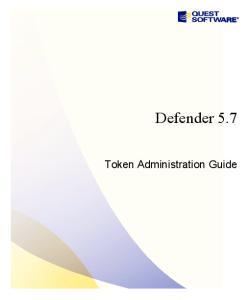 Defender 5.7. Token Administration Guide