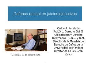 Defensa causal en juicios ejecutivos