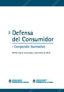 Defensa del Consumidor. Compendio Normativo