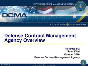 Defense Contract Management Agency Overview
