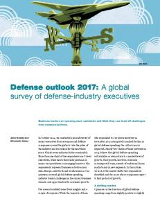Defense outlook 2017: A global survey of defense-industry executives