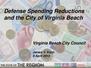 Defense Spending Reductions and the City of Virginia Beach