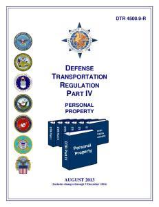 DEFENSE TRANSPORTATION REGULATION PART IV