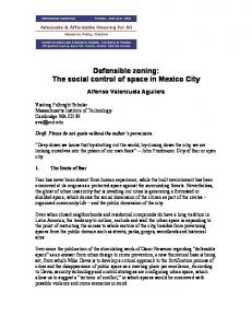 Defensible zoning: The social control of space in Mexico City