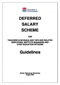DEFERRED SALARY SCHEME