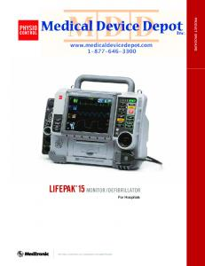 DEFIBRILLATOR. For Hospitals PHYSIO-CONTROL IS A DIVISION OF MEDTRONIC