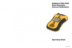 Defibtech DDU-2300 Semi-Automatic External Defibrillator Operating Guide