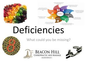 Deficiencies. What could you be missing?