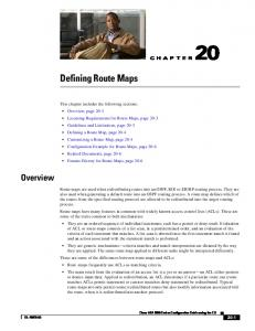 Defining Route Maps. Overview CHAPTER