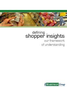 defining shopper insights our framework of understanding