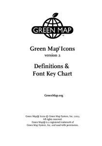 Definitions & Font Key Chart