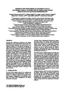 DEFORMATION MONITORING IN ZAFARRAYA FAULT AND SIERRA TEJEDA ANTIFORM (BETIC CORDILLERA, SPAIN) USING SATELLITE RADAR INTERFEROMETRY