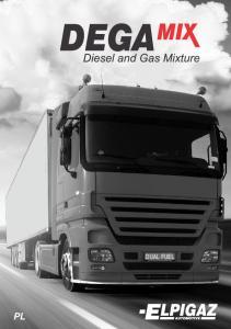 DEGA. Diesel and Gas Mixture. LPG Powietrze. Spaliny ON + LPG. tylko ON!! ON+LPG. Termopara spalin ON + LPG. Wykres mocy [KW]