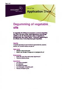 Degumming of vegetable oils
