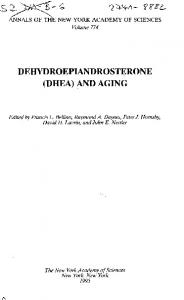 DEHYDROEPIANDROSTERONE (DHEA) AND AGING