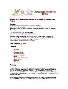 Dehydroepiandrosterone (DHEA)