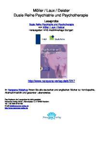 Deister Duale Reihe Psychiatrie und Psychotherapie