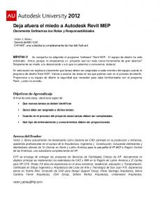 Deja afuera el miedo a Autodesk Revit MEP