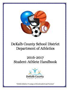 DeKalb County School District Department of Athletics