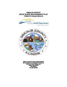 DEKALB COUNTY SOLID WASTE MANAGEMENT PLAN TWENTY-YEAR UPDATE