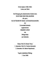 Dekan: Prof. Dr. Bernd Thum 1. Gutachter: Prof. Dr. Norbert Schneider 2. Gutachter: Dr. Martin Papenbrock