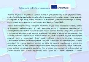 Deklaracja polityki w programie