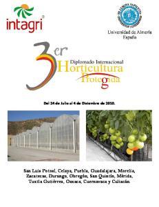 Del 24 de Julio al 4 de Diciembre de 2010