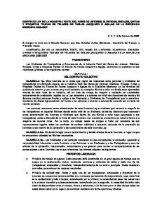 DEL CONTRATO COLECTIVO CLAUSULA