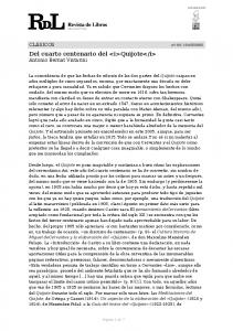 Del cuarto centenario del quijote Antonio Bernat Vistarini