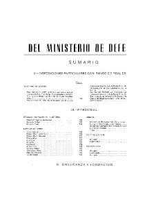 DEL MINISTERIO DE DEFE