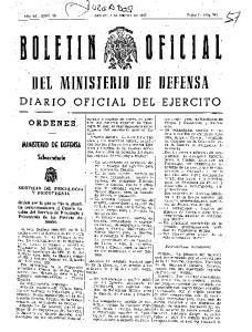 DEL MINISTERIO DE DEFENSA