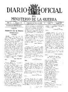 DEL MINISTERIO DE LA GUERRA