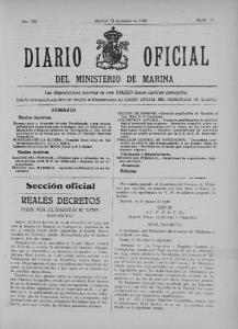 DEL MINISTERIO DE MARINA