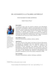DEL MOVIMIENTO A LA PALABRA: MEYERHOLD *