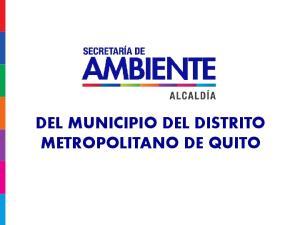 DEL MUNICIPIO DEL DISTRITO METROPOLITANO DE QUITO