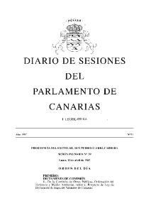 DEL PARLAMENTO DE CANARIAS
