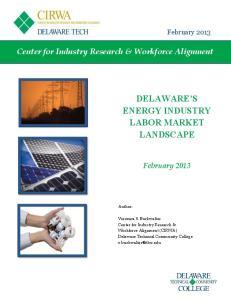 DELAWARE S ENERGY INDUSTRY LABOR MARKET LANDSCAPE