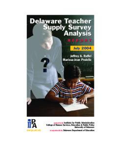 Delaware Teacher Supply Survey Analysis