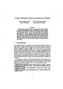 Delay Differential Nonlinear Economic Models
