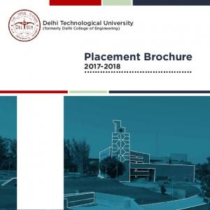 Delhi Technological University (formerly Delhi College of Engineering) Placement Brochure