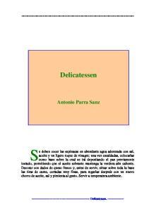 Delicatessen. Antonio Parra Sanz