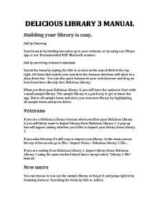 DELICIOUS LIBRARY 3 MANUAL