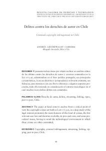 Delitos contra los derechos de autor en Chile