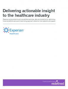 Delivering actionable insight to the healthcare industry