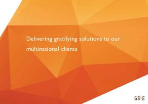 Delivering gratifying solutions to our multinational clients