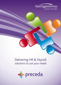 Delivering HR & Payroll solutions to suit your needs