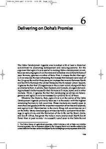 Delivering on Doha s Promise