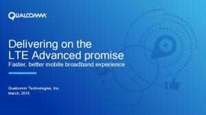 Delivering on the LTE Advanced promise
